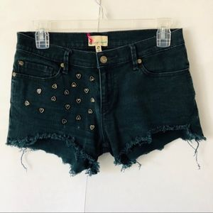 Roxy | Studded Cut Off Navy Denim Shorts